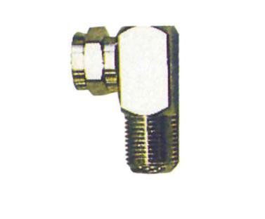 Conector en ángulo  para recepción SAT, 2 unidade