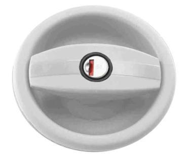 Cerradura de puerta  negro/blanco