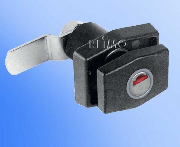 Cerradura pulsador negra sin bombin ni llave