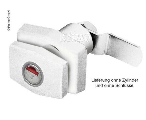 Cerradura pulsador blanca sin bombin ni llave