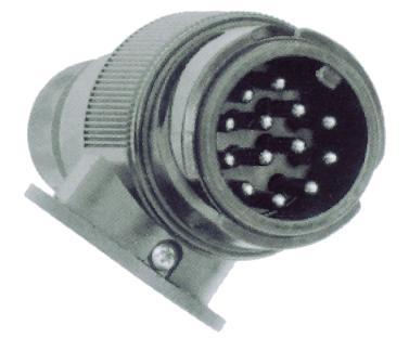Conector macho 12 V   13 pin abs  caravana remolqu