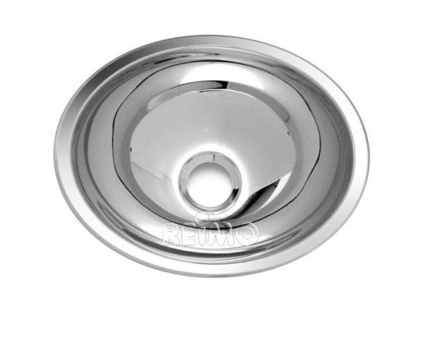 Lavabo ovalado de acero inoxidable, 340mm