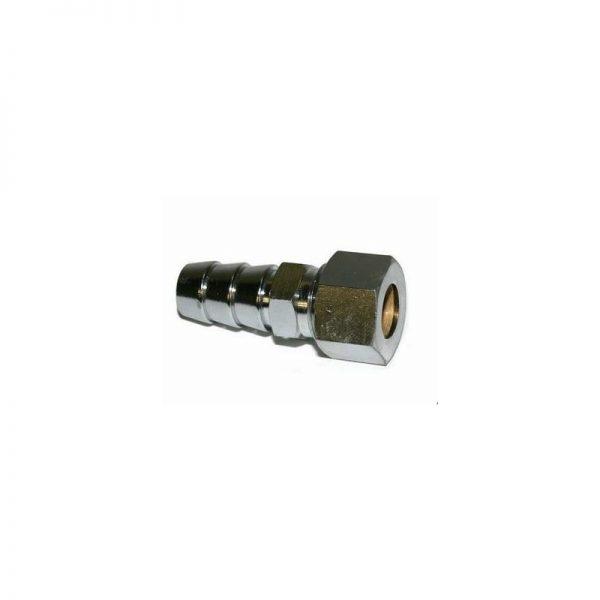 Tetina de conexion para tuberia de 8 mm