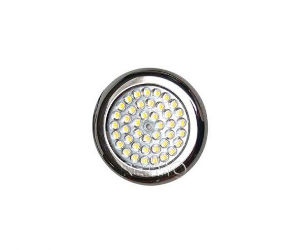 Foco  LED plano, 42 LED 90×7,3mm Acero, cromado, 3
