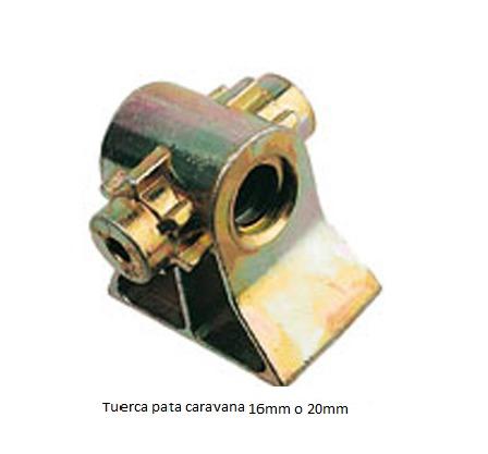 Tuerca bronce de recambio para patas 16 mm