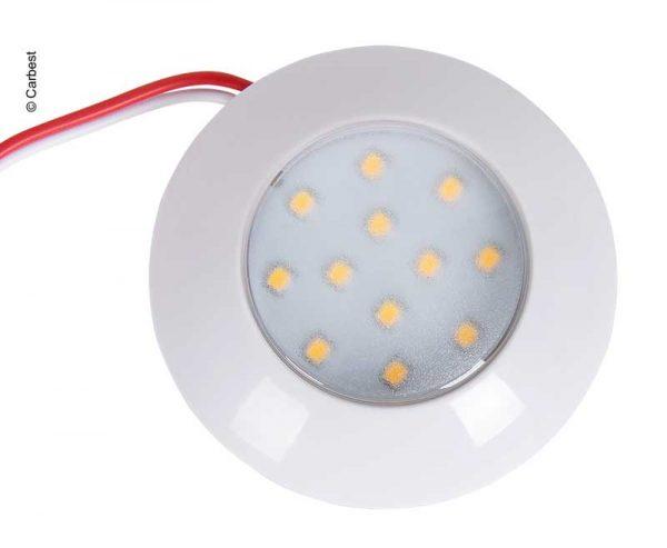 Foco LED de 12V, 75x18mm, 2.4W, 240 lúmenes, 12 LE