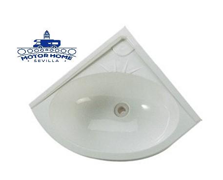Lavabo de angulo blanco 330 x 330 mm