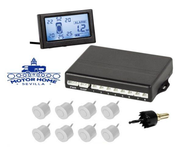 Radar de aparcamiento  LCD   Ftal + Tras