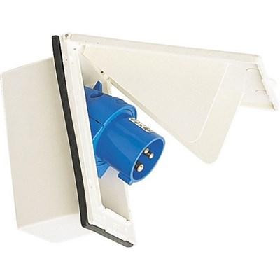 Toma corriente encastrar 220 V  Blanca rectangular